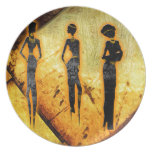 Africa retro vintage style gifts AF098 Party Plate