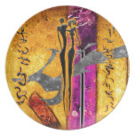 Africa retro vintage style gifts AF104 Party Plates