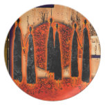 Africa retro vintage style gifts AF105 Party Plates