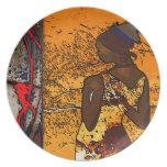 Africa retro vintage style gifts AF107 Dinner Plates