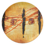 Africa retro vintage style gifts AF109 Party Plates