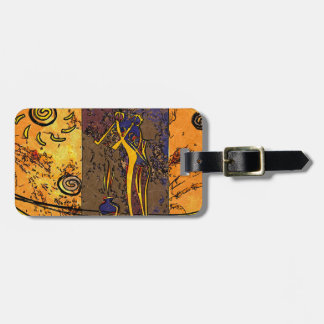 Africa retro vintage style gifts bag tag