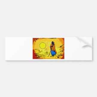 Africa retro vintage style gifts car bumper sticker