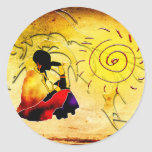 Africa retro vintage style gifts classic round sticker