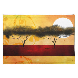 Africa retro vintage style gifts cloth placemat