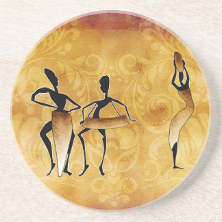 Africa retro vintage style gifts coaster