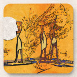 Africa retro vintage style gifts coasters