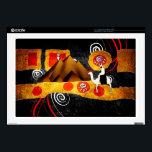 "Africa retro vintage style gifts decals for laptops<br><div class=""desc"">17 Inch Laptop Skin Template</div>"