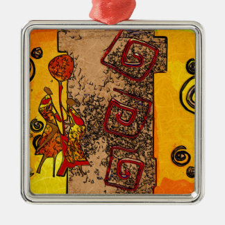 Africa retro vintage style gifts metal ornament
