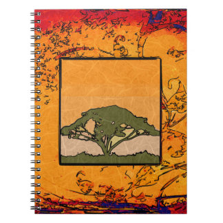 Africa retro vintage style gifts notebook