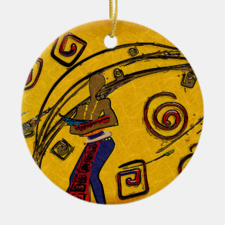 Africa retro vintage style gifts Double-Sided ceramic round christmas ornament