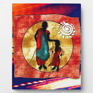 Africa retro vintage style gifts plaque