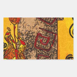Africa retro vintage style gifts rectangular sticker