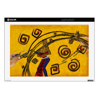 """Africa retro vintage style gifts 17"""" laptop decal"""