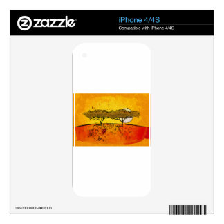 Africa retro vintage style gifts iPhone 4S decals