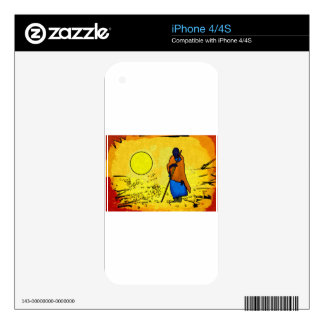 Africa retro vintage style gifts skins for the iPhone 4S