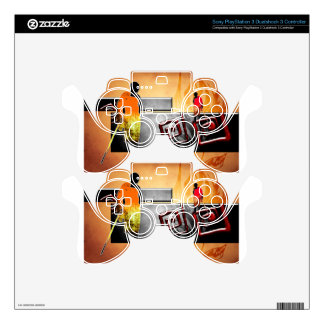 Africa retro vintage style gifts skin for PS3 controller