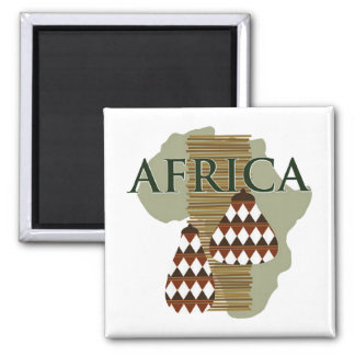 Africa - Rich In History 2 Inch Square Magnet