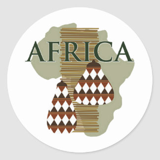 Africa - Rich In History Classic Round Sticker