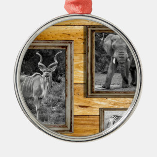 Africa. Round Metal Christmas Ornament