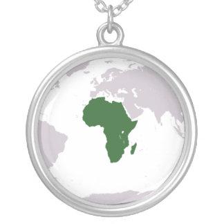 Africa Round Pendant Necklace