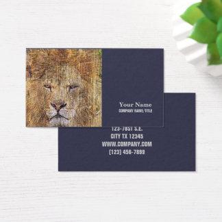 Africa safari animal wildlife majestic lion business card