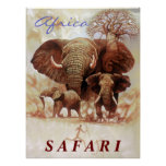 Africa Safari- Ele study Poster