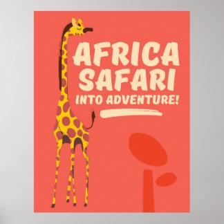 Africa Safari Into Adventure! Poster
