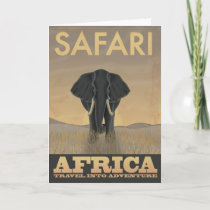 Africa Safari vintage travel poster Card