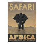 Africa Safari vintage travel poster Card