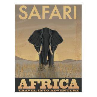 Africa Safari vintage travel poster Postcard