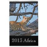 África salvaje animal 2013 (CUALQUIER AÑO) Calendario