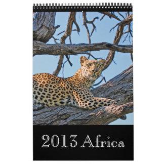 África salvaje animal 2013 CUALQUIER AÑO Calendario