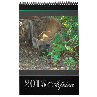 África salvaje animal 2013 CUALQUIER AÑO Calendarios De Pared