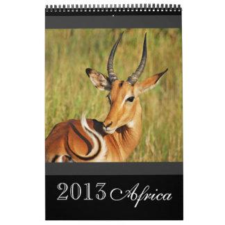 África salvaje animal 2013 CUALQUIER AÑO Calendarios