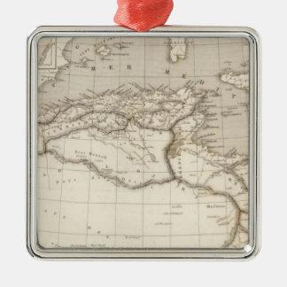 África septentrional adorno cuadrado plateado