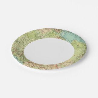 África septentrional con las rutas de envío plato de papel de 7 pulgadas