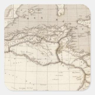 África septentrional pegatina cuadrada