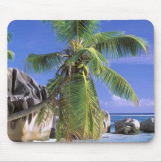 África, Seychelles, isla de Digue del La. Granito  Alfombrillas De Ratón