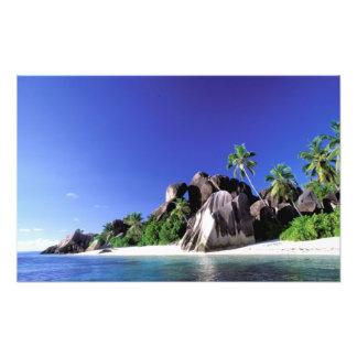 África, Seychelles, isla de Digue del La. Granito  Cojinete