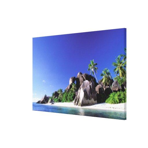 África, Seychelles, isla de Digue del La. Granito  Lona Estirada Galerías