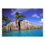 África, Seychelles, isla de Digue del La. Granito  Arte Fotografico