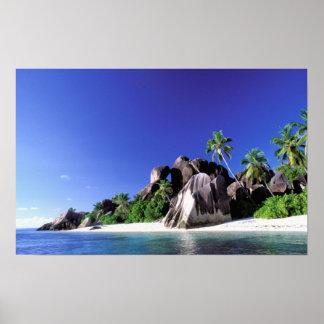 África, Seychelles, isla de Digue del La. Granito  Póster