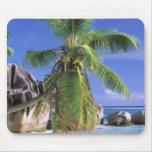África, Seychelles, isla de Digue del La. Granito  Alfombrillas De Ratones