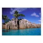 África, Seychelles, isla de Digue del La. Granito Tarjeta De Felicitación