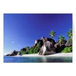 África, Seychelles, isla de Digue del La. Granito  Tarjeton