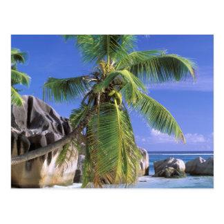 África, Seychelles, isla de Digue del La. Granito Tarjeta Postal