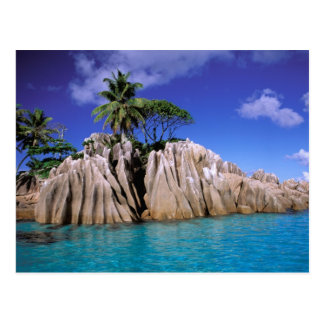 África Seychelles isla de Digue del La Granito Postal