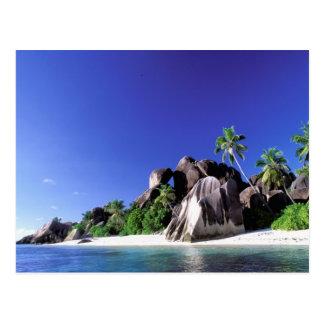África, Seychelles, isla de Digue del La. Granito Tarjetas Postales