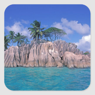 África, Seychelles, isla de Praslin, St Pierre Calcomania Cuadradas Personalizada